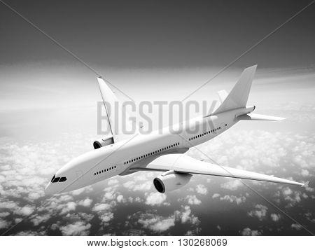 Airplane Flight Departure Journey Trip Concept