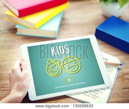 Kids Children Childhood Boys Girls Concept