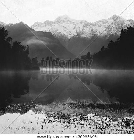 Mountain Lake Nature Peaceful Rural Remote Concept