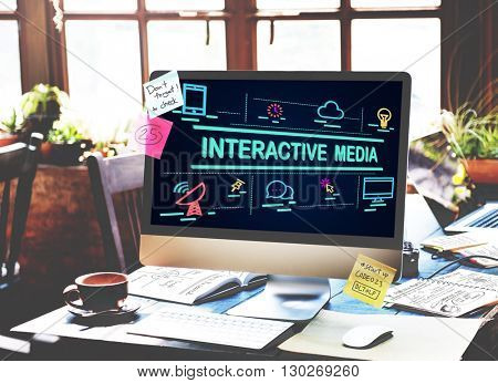 Interactive Media Connection Digital Internet Concept