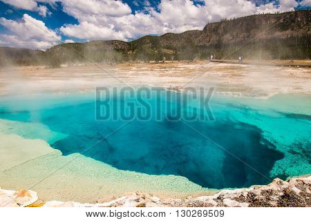 Old Large Grand Prismatic Spring, Yellowstone National Park, Wyoming