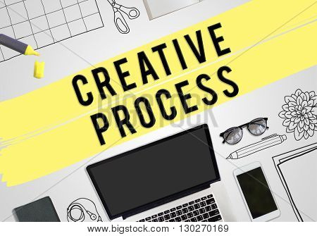 Creative Process Illustration Technology Concept