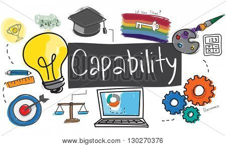 Ability Capability Creativity Drawing Icon Illustration Concept