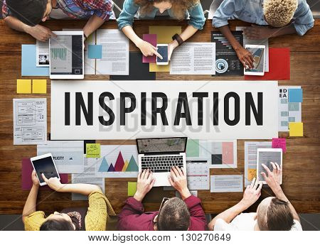 Inspiration Creative Dream Imagination Innovate Concept