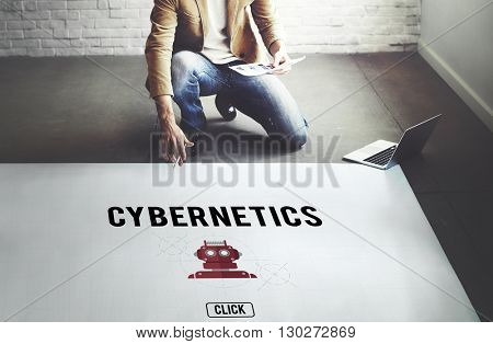 Cybernetic Factory Industry Intelligence Machinery Concept