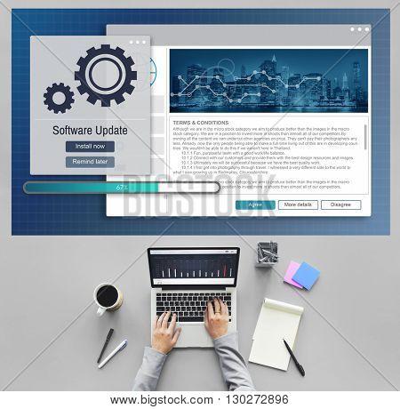 Software Update Installation Upgrade Data Concept