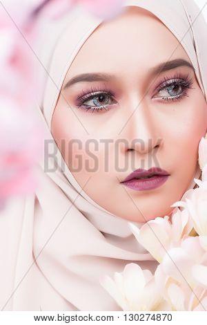Fashion Moslem Asian Woman