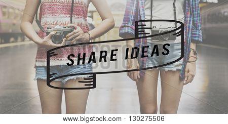 Share Connection Feedback Ideas Moment Social Concept