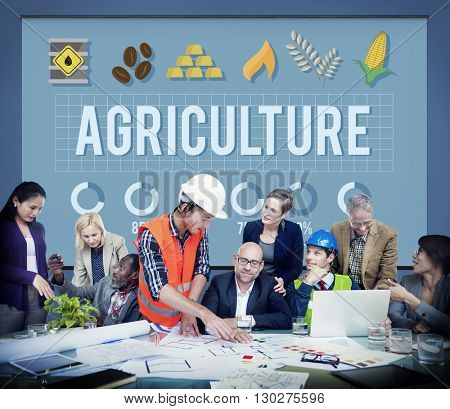 Agriculture Country Crops Farm Food Land Reap Concept