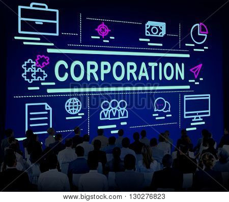 Corporation Company Corporate Enterprise Group Concept