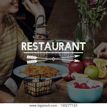 Food Delicious Eat Well Restaurant Dinner Concept