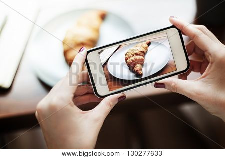 Photography Photo Shot Croissant Bakery Concept