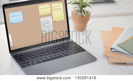 Notepad Reminder Remember List Planning Concept