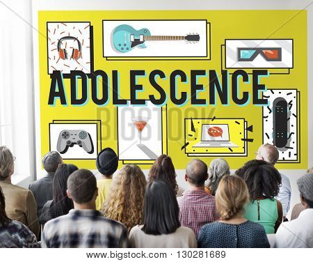 Adolescence Young Adult Youth Culture Lifestyle Concept