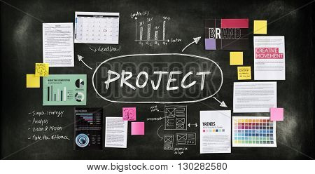 Project Collaboration Enterprise Operation Predict Concept