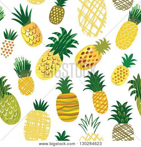 Ananas background, seamless pattern