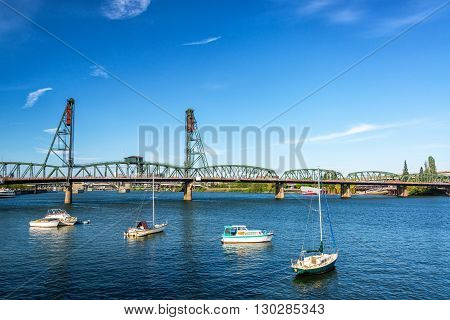 Hawthorne Bridge And Boats