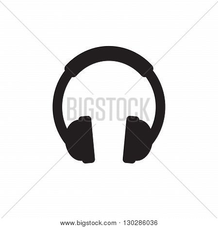 Headphone Icon Vector. Headphone sign isolated on white background.