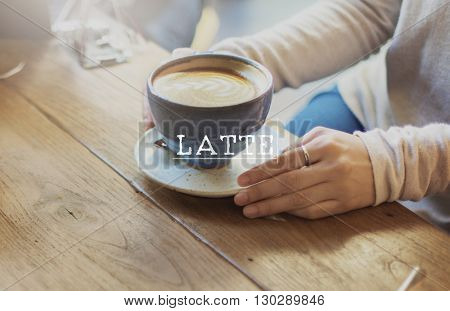Latte Coffee Relaxing Break Time Rest Concept