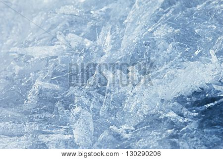Detailed background texture of fresh thin ice. Background. Texture.