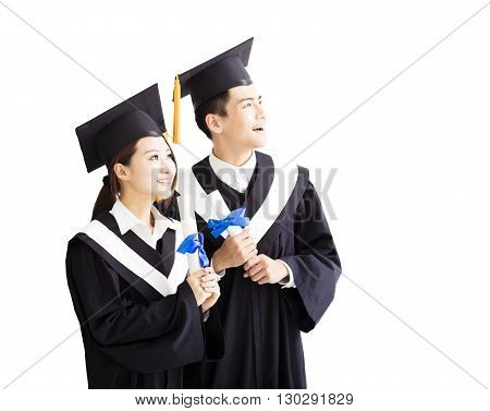 happy graduation Looking to the Future isolated