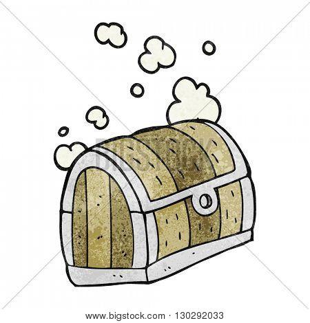 freehand drawn texture cartoon treasure chest