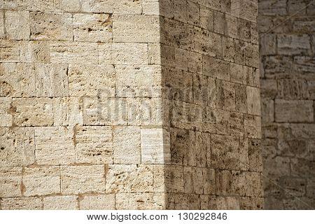 San Quirico Church Wall Stone Background
