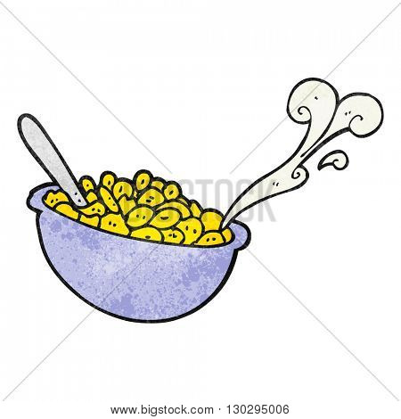 freehand drawn texture cartoon bowl of cereal