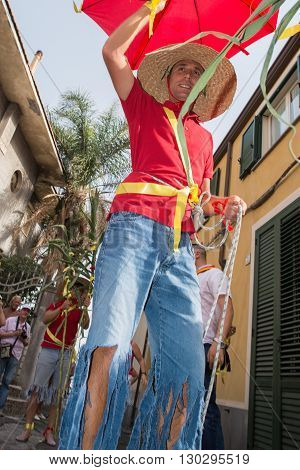 Aci Trezza, Italy - June, 24 2014 - San Giovanni Traditional Parade Celebration