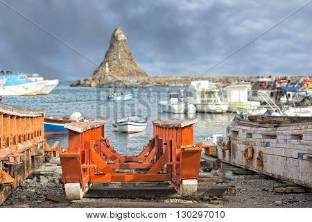 Aci Trezza Sicily Cyclopes Stacks Rocks