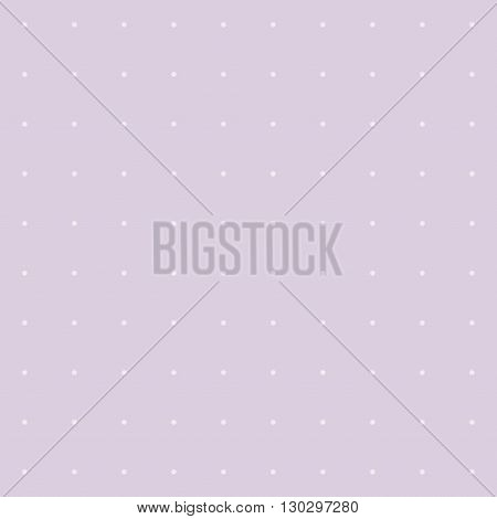 Lilac background with polka dots. Vector image.