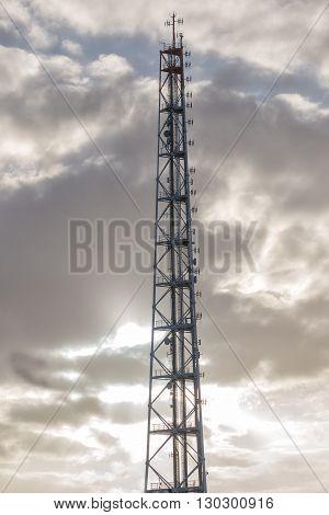 hamburg communication tower on sky background view