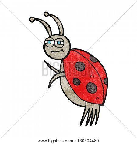 freehand drawn texture cartoon ladybug