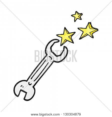 freehand drawn texture cartoon spanner