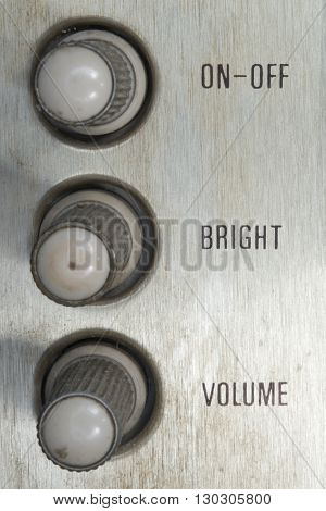 Vintage On-off Bright Volume Tv Control Knob