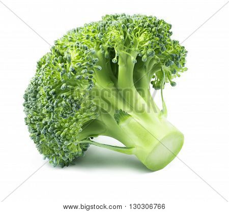 Broccoli heads small isolated on white background 3 as package design element