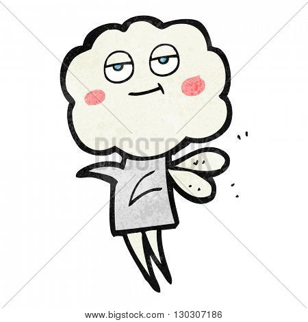 freehand drawn texture cartoon cute cloud head imp