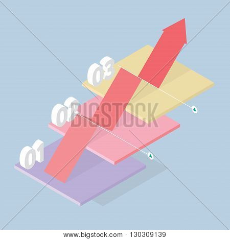 Global Success, business concept, illustration, Graphs and Charts