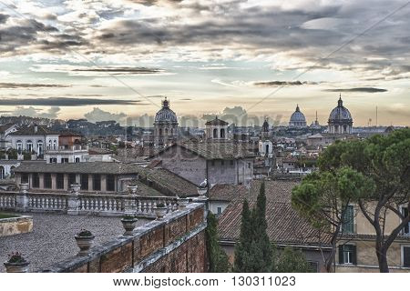 Rome Sunset View
