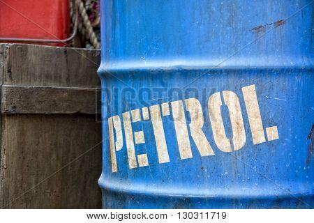dirty oil petroleum barrel drum close up