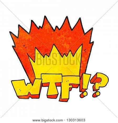 freehand drawn texture cartoon WTF symbol