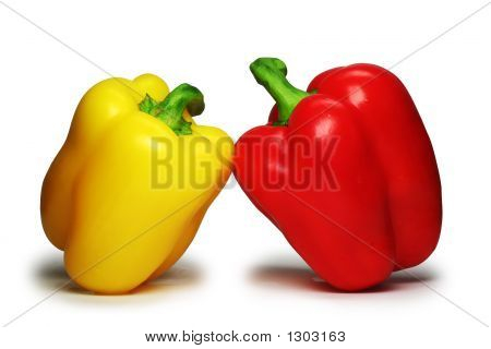 The Sweet Bulgarian Pepper ( Clipping Path ).