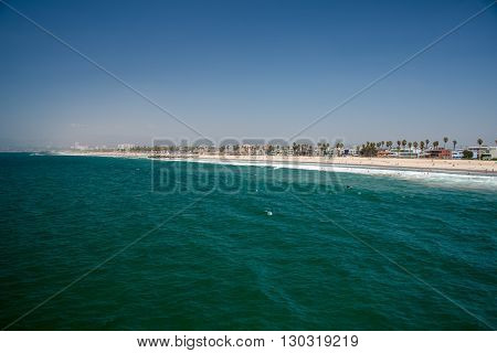 Los Angeles, Usa - August 5, 2014 - People In Venice Beach Landscape