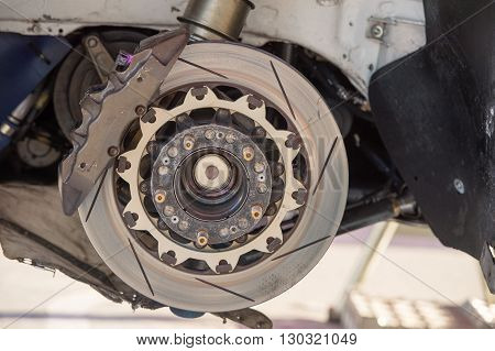 Rally Car Brake System Detail