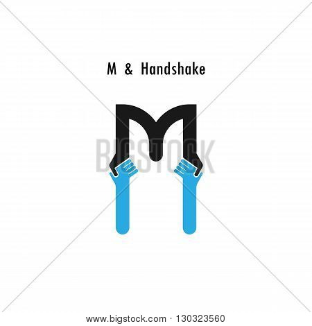 Creative M- letter icon abstract logo design vector template.Business offerpartnership icon.Corporate business and industrial logotype symbol.Vector illustration