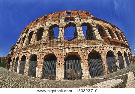 View On Coliseum Colosseum In Rome, Italy