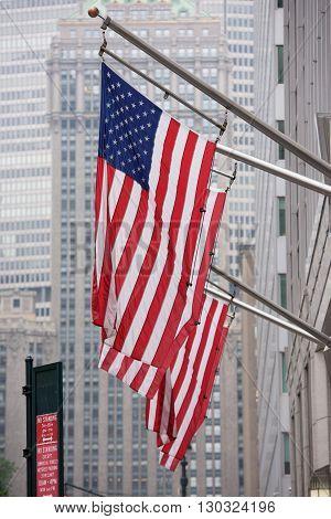 Usa American Flag Stars Weaving Ion New York City