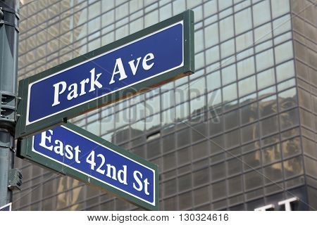 New York Street Sign: Park Avenue