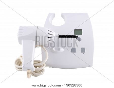 Ultraviolet dentist lamp isolated on white background