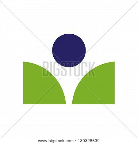 Book reader sign icon vector illustration isolated on white background.